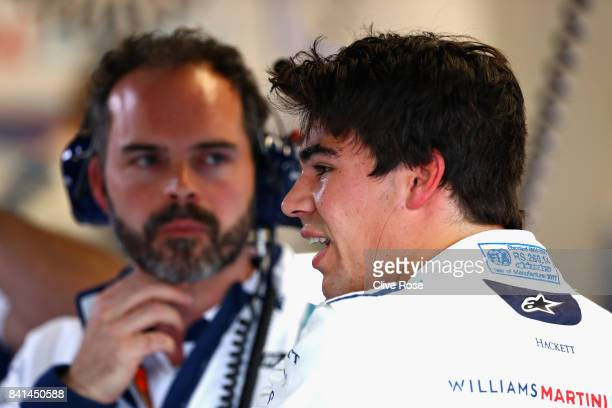 Lance Stroll of Canada and Williams prepares to drive during practice for the Formula One Grand Prix of Italy at Autodromo di Monza on September 1...