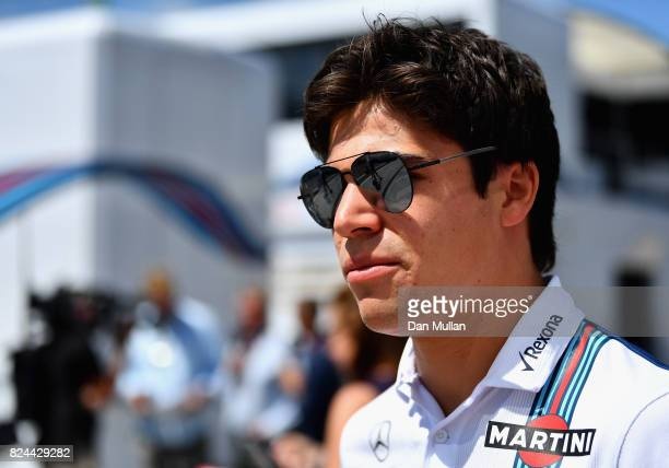 Lance Stroll of Canada and Williams walks in the Paddock before the Formula One Grand Prix of Hungary at Hungaroring on July 30 2017 in Budapest...