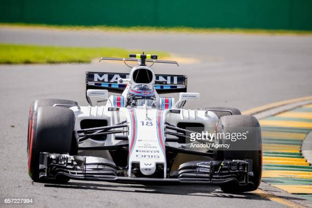 Lance Stroll of Canada driving for Williams Martini Racing on Friday Free Practice during the 2017 Rolex Australian Formula 1 Grand Prix at Albert...