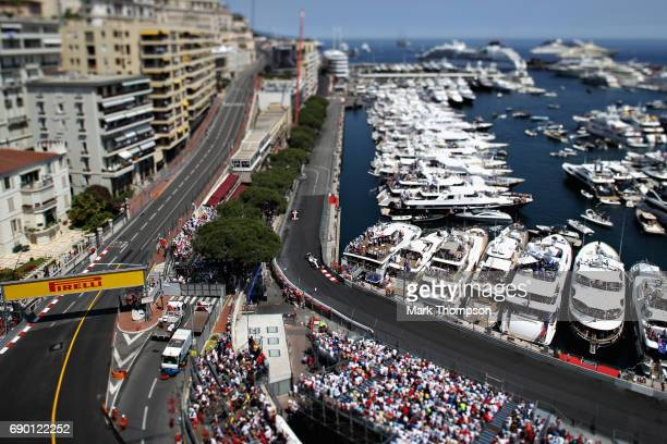 Lance Stroll of Canada driving the Williams Martini Racing Williams FW40 Mercedes on track during the Monaco Formula One Grand Prix at Circuit de...