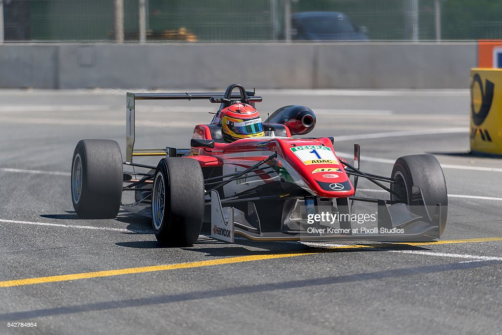 Lance Stroll (CAN) of FIA Formula 3 Team van Amersfoort Racing during a free practice session in preparation for the upcoming 2016 FIA Formula 3 European Championships at the Norisring during Day 1 of the German Touring Car Championship 2016 - Session 4 on June 24, 2016 in Nuremberg, Germany.