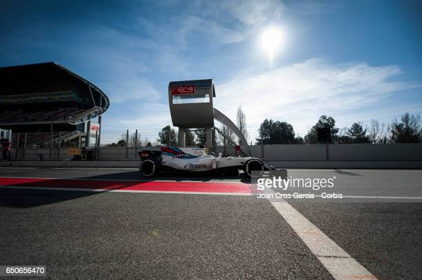 Lance Stroll of Martini Williams Team drives during the Formula One Winter tests on May 9 2017 in Barcelona Spain
