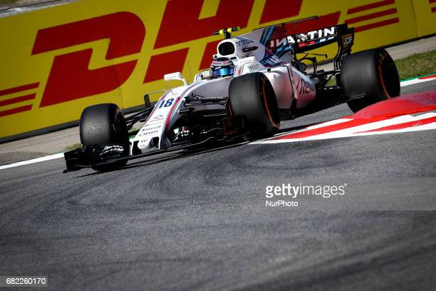 Lance Stroll of Williams during the first training session of GP of Spain in Montmeló at Catalunya's Circuit on May 12 2017