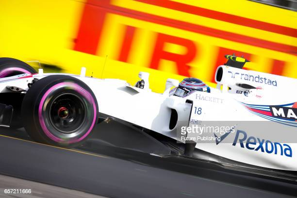 Lance Stroll of Williams Martini Racing competes in the 2nd F1 practice session at the 2017 Australian Formula 1 Grand Prix on March 24 2017 in...