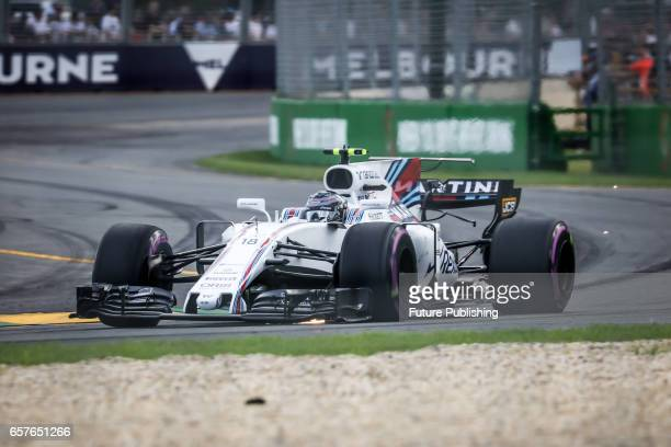 Lance Stroll of Williams Martini Racing during qualifying session at the 2017 Australian Formula 1 Grand Prix on March 25 2017 in Melbourne Australia...
