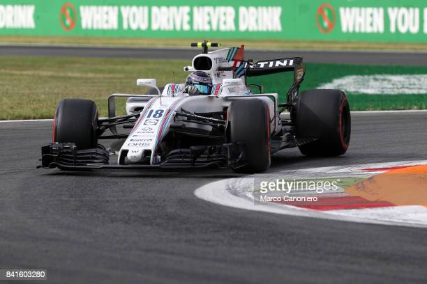Lance Stroll of Williams Martini Racing on track during free practice of the Italian Formula One Grand Prix