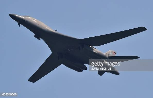 Lancer flies over the Osan Air Base aiming at reinforcing the US commitment to its key ally in Pyeongtaek on September 13 2016 / AFP / JUNG YEONJE