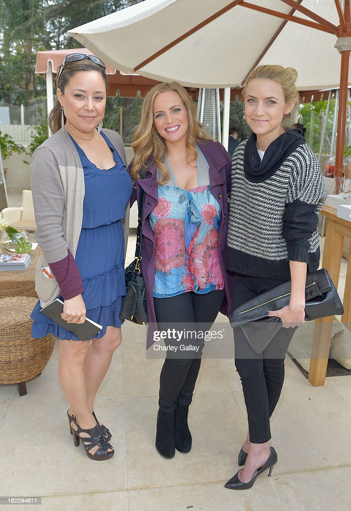 Lancome's Patricia Reynoso, Ronit Cohn and Michelle Plantan of FAWN attend Vanity Fair, Lancome And Clarisonic Beauty Luncheon With Vanity Fair Beauty Director SunHee Grinnell on February 21, 2013 in Los Angeles, California.