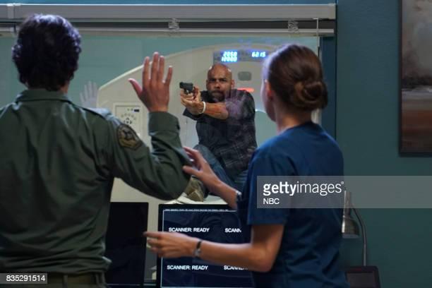 SHIFT 'Land Of The free' Episode 409 Pictured Eoin Macken as TC Callahan Luis Moncada as Romero Jill Flint as Jordan Alexander