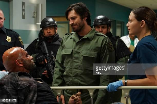 SHIFT 'Land Of The free' Episode 409 Pictured Luis Moncada as Romero Eoin Macken as TC Callahan Jill Flint as Jordan Alexander