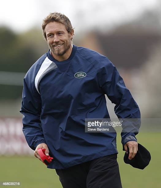 Land Rover ambassador Jonny Wilkinson during the launch of the Land Rover Rugby World Cup 2015 'We Deal In Real' campaign at a grassroots match...
