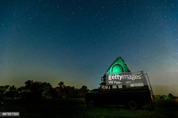 Land Rover at night with starry sky in Fallston Maryland USA