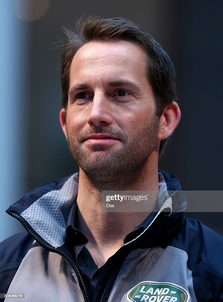 Land Rover Bar skipper <a gi-track='captionPersonalityLinkClicked' href=/galleries/search?phrase=Ben+Ainslie&family=editorial&specificpeople=208865 ng-click='$event.stopPropagation()'>Ben Ainslie</a> looks on during the Louis Vuitton America's Cup World Series Racing Skipper press conference at the Brookfield Place on May 05, 2016 in New York City.