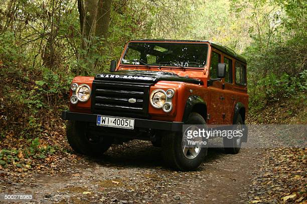 Land Rover Defender at the test drive