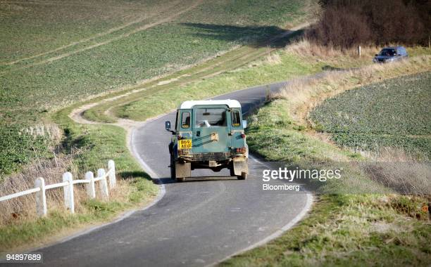 Land Rover Defender driven on the road near Saffron Walden Essex UK on Monday Feb 18 2008 Tata Motors Ltd the Indian automaker that's in talks to buy...