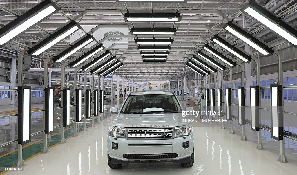 A Land Rover Freelander II SUV vehicle is seen at the Jaguar Land Rover manufacturing plant at Pimpri in the western Indian state of Maharashtra on...