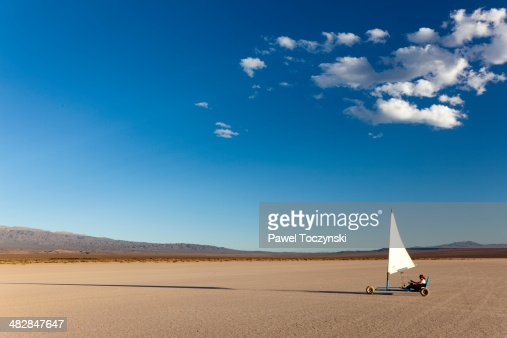 Land sailing on Barreal Blanco, Argentina