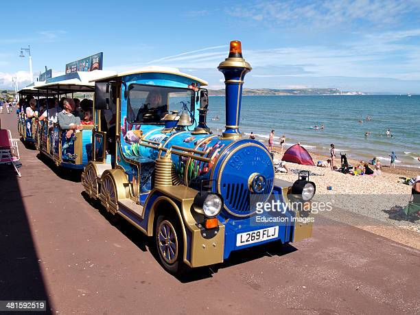 Land train along the seafront Weymouth Dorset UK