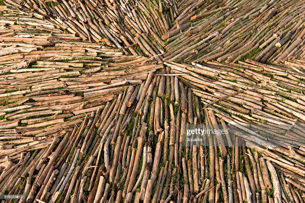 Landart in Westerhever in Germany : Stock Photo