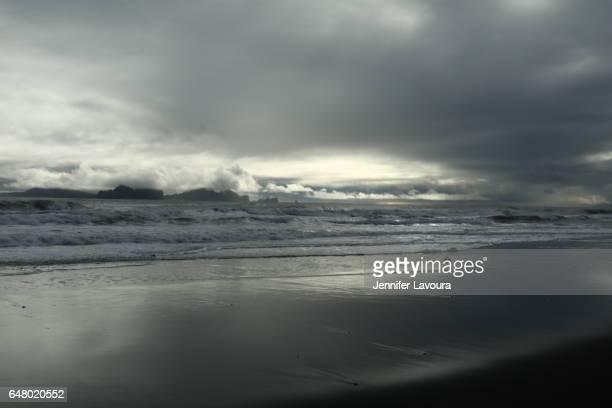 Landeyjahöfn black sand beach