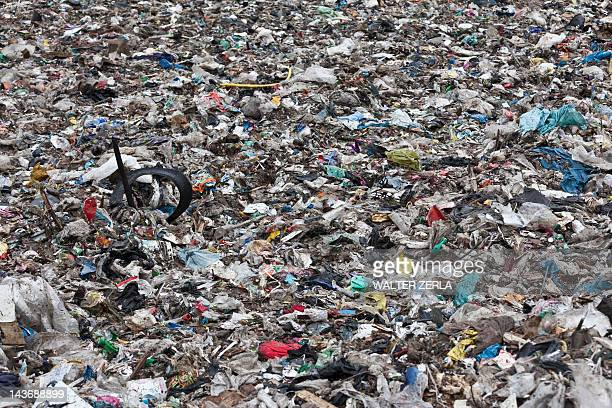 Landfill at garbage collection center