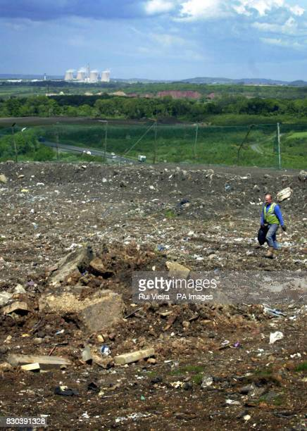 A landfill site in Leicestershire on a fomer open cast mine which is now used for household waste The Government has announced a new strategy with...