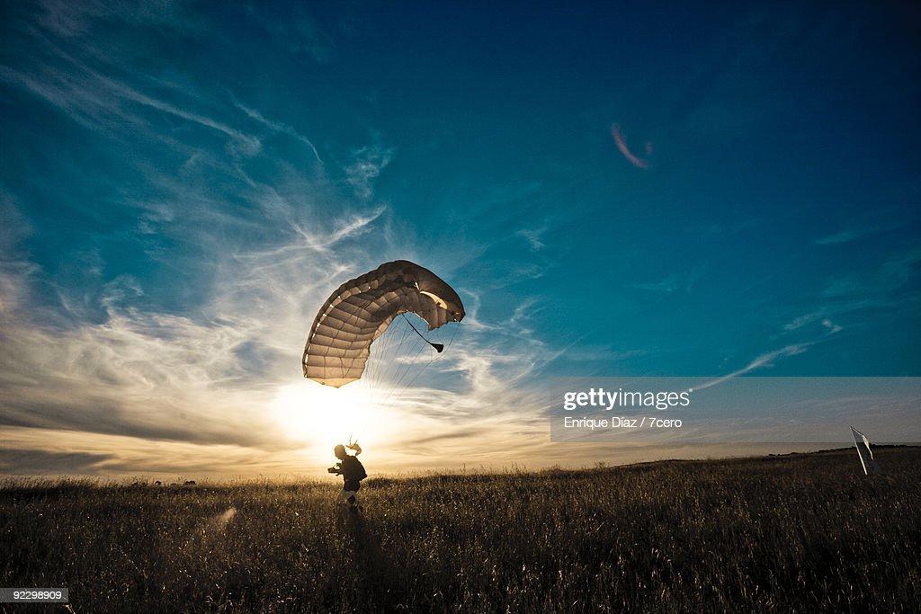 Landing field : Stock Photo