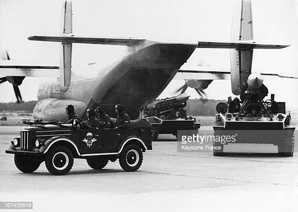 Landing Force Mobile And Rocket Launchers At Air Show At Domodedovo In Russia On July 1967