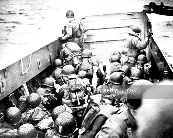 Landings in Normandy France Allied troops landing June 1944 France World War II National archives Washington