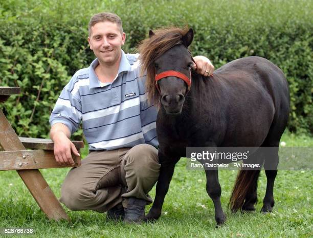 Landlord Jason Reeves with Sparky The Shetland Pony is fussy about his drinks and turns his nose up at Cider Alcopops and Lager but is very partial...