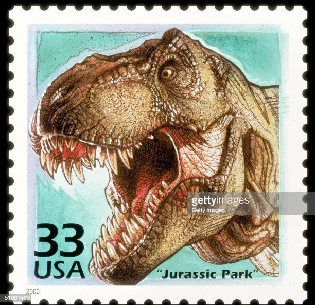Landmark 'Celebrate The Century' Series Ends With Postage Stamps Saluting The 1990S To Be Released On May 2 2000 Pictured Here Is The Film 'Jurassic...
