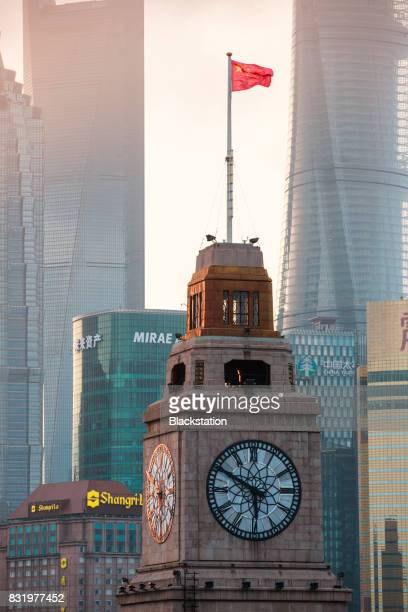 landmark of the Bund in Shanghai
