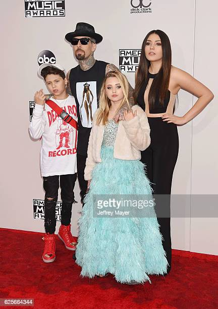Landon Asher Barker musician Travis Barker Alabama Luella Barker and Atiana de la Hoya arrive at the 2016 American Music Awards at Microsoft Theater...
