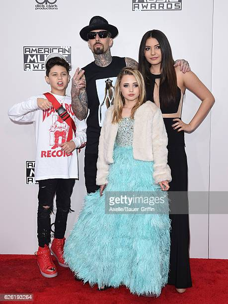 Landon Asher Barker musician Travis Barker Alabama Luella Barker Atiana de la Hoya arrive at the 2016 American Music Awards at Microsoft Theater on...