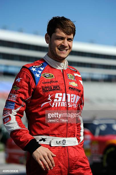 Landon Cassill driver of the Chevrolet during Pinnacle Propane Qualifying for the NASCAR Nationwide Series O'Reilly Auto Parts Challenge at Texas...