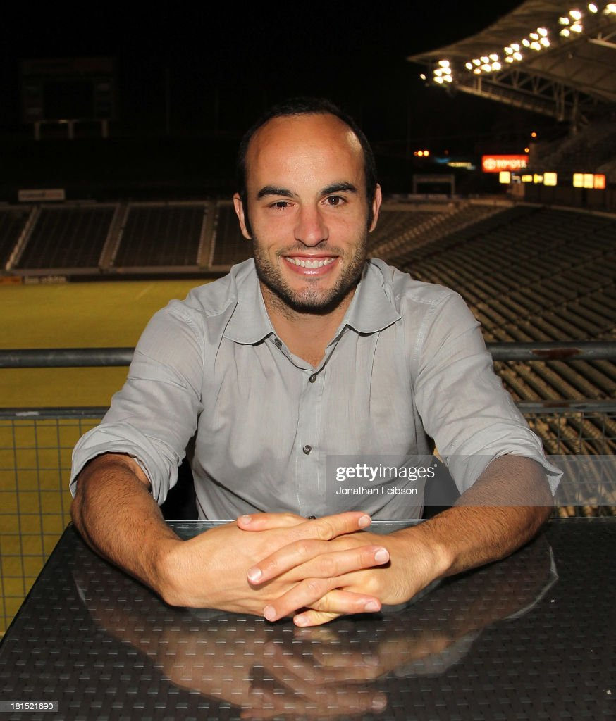 <a gi-track='captionPersonalityLinkClicked' href=/galleries/search?phrase=Landon+Donovan&family=editorial&specificpeople=171601 ng-click='$event.stopPropagation()'>Landon Donovan</a> attends the American Express VIP Game Experience With <a gi-track='captionPersonalityLinkClicked' href=/galleries/search?phrase=Landon+Donovan&family=editorial&specificpeople=171601 ng-click='$event.stopPropagation()'>Landon Donovan</a> at StubHub Center on September 21, 2013 in Los Angeles, California.