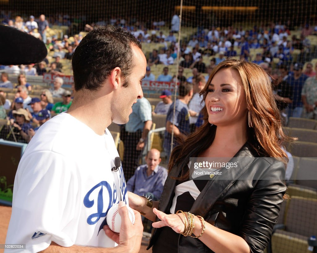Celebrity Sightings At Dodgers Game