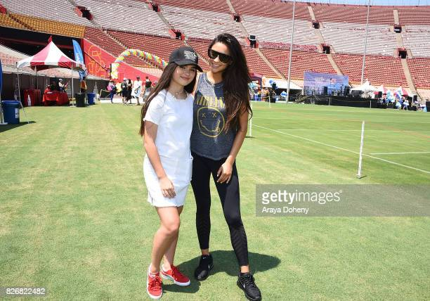Landry Bender and Shay Mitchell attend the Children's Hospital Los Angeles Inaugural Play LA Fundraiser at The LA Coliseum on August 5 2017 in Los...