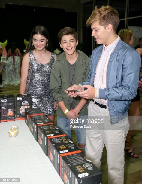 Landry Bender Asher Angel and Ricky Garcia at Backstage Creations Celebrity Retreat at Teen Choice 2017 Day 2 at Galen Center on August 13 2017 in...