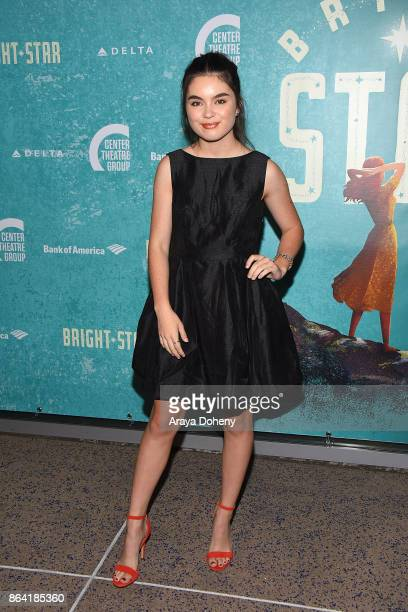 Landry Bender attends the opening night of 'Bright Star' at Ahmanson Theatre on October 20 2017 in Los Angeles California