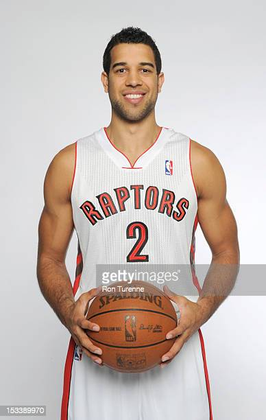 Landry Fields of the Toronto Raptors poses for a portrait during a Media Day on October 1 2012 in Toronto Canada NOTE TO USER User expressly...