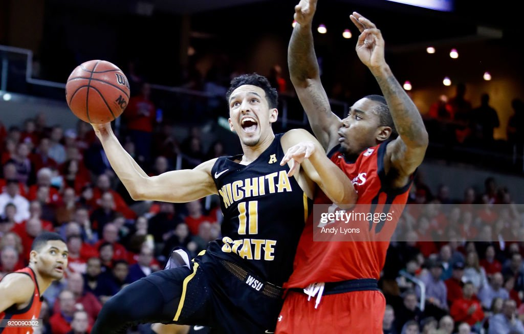 Landry Shamet #11 of the Witchita State Shockers shoots the ball during the 76-72 win over the Cincinnati Bearcats at BB&T Arena on February 18, 2018 in Highland Heights, Kentucky.