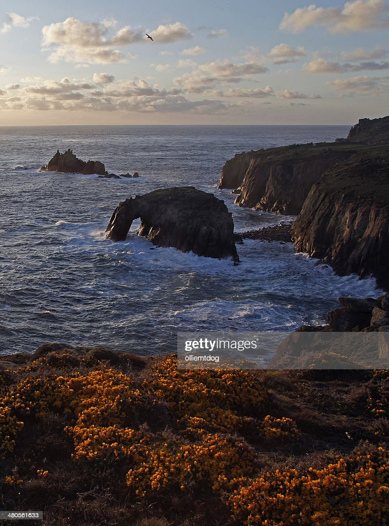 Lands End Cornwall : Stock Photo