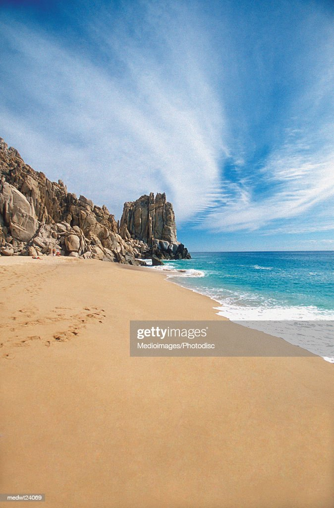 Land's End rock formation on Playa Solmar in Cabo San Lucas, Mexico, Baja California