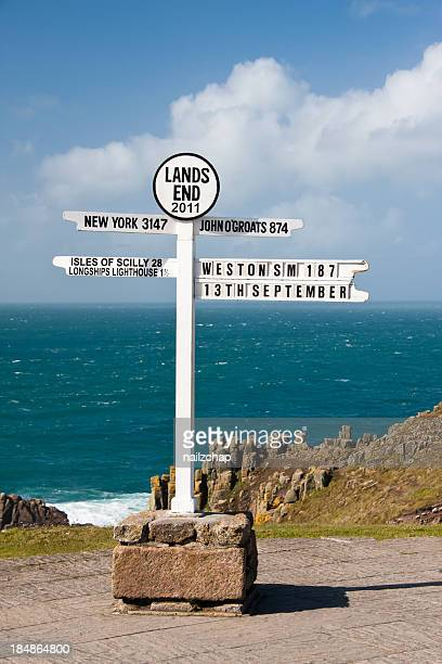 Lands End Sign Post in Cornwall