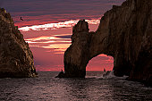 Land's End & the Arch at Sunset Closeup