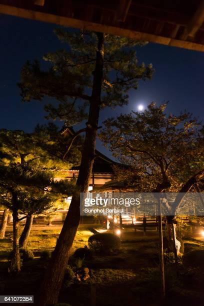Landscape and Murasame-no-roka Corridor in Daikakuji Temple