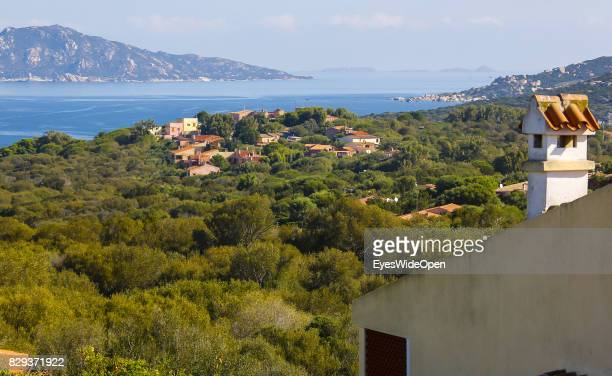 Landscape and panoramic view at Porto Pollo beach on September 9 2014 in Cagliari Sardinia Italy