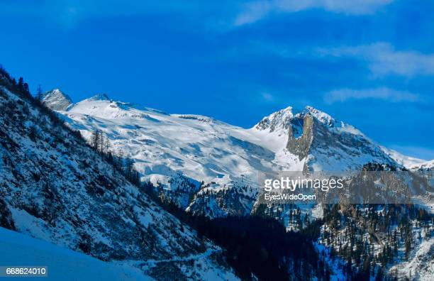 Landscape and panoramic view on the glacier of Hintertux on March 12 2017 in Hintertux Austria