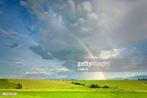 Landscape and  rainbow